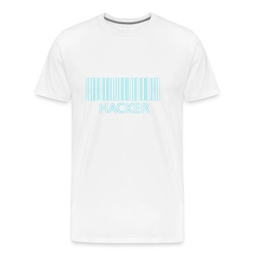 Hacker_barcode Cup - Maglietta Premium da uomo