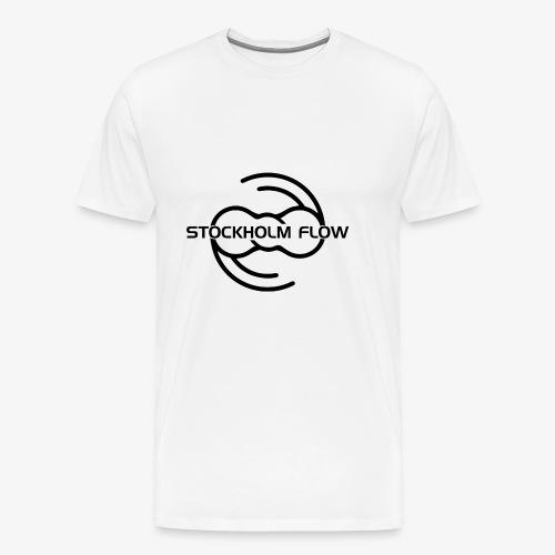 Stockholm Flow svart tryck - Premium-T-shirt herr