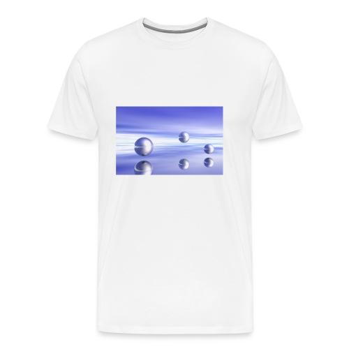 Schwebende Kugeln (3D Landschaft) - Männer Premium T-Shirt