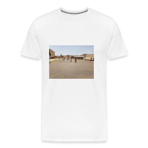 En pojke gör ett mål - Premium-T-shirt herr