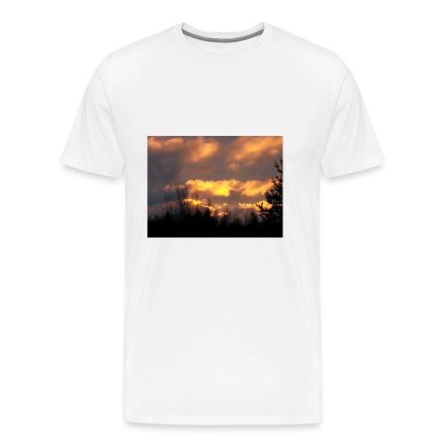 Iltarusko - Miesten premium t-paita