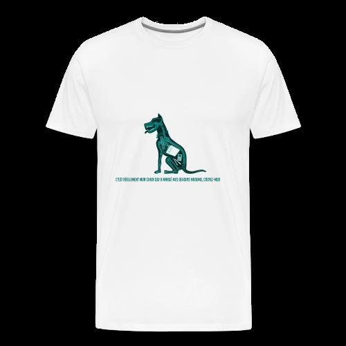 T-shirt femme imprimé Chien au Rayon-X - T-shirt Premium Homme