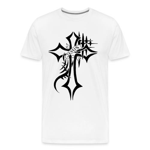 cross - Premium T-skjorte for menn