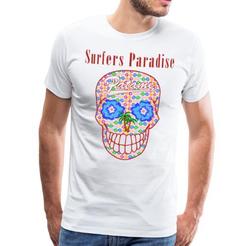 Patame Surfers Paradise Skull Red - Männer Premium T-Shirt