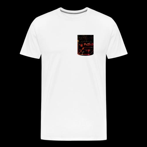 Mathe Physik Wissenschaft Lehrer Pocket Design - Männer Premium T-Shirt