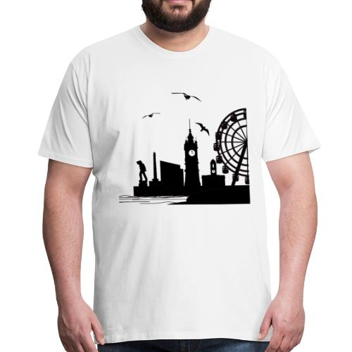 Silhouette of Margate - Men's Premium T-Shirt