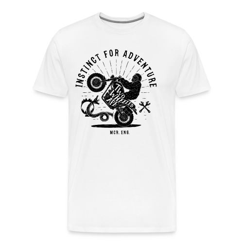 Two Wheeled Ape Wheelie Biker T shirt - Men's Premium T-Shirt