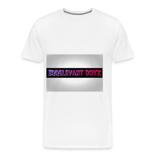 Irrelevant Boyz Grey And Luminous - Men's Premium T-Shirt