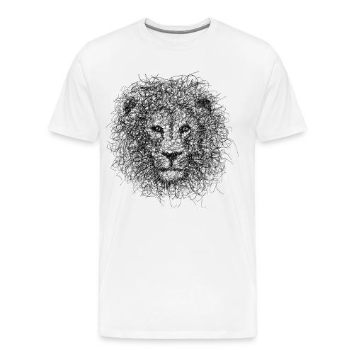 Lion Gribouillage - T-shirt Premium Homme