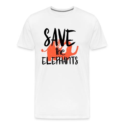 Save the Elephants - Men's Premium T-Shirt