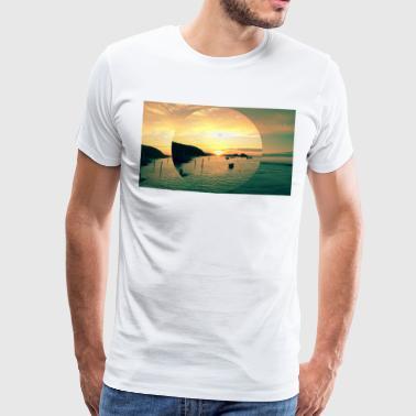 Sunset Bude, Cornwall - Premium-T-shirt herr
