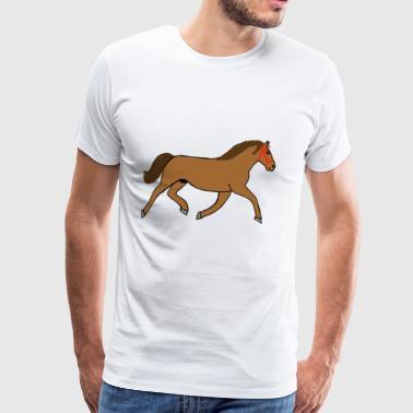 Equestrian rider hest jeg elsker mold gave - Premium T-skjorte for menn