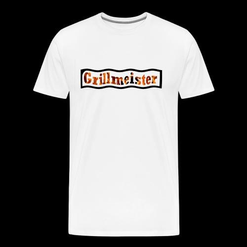 Grillmeister Logo. Für jeden der gerne grillt. - Männer Premium T-Shirt