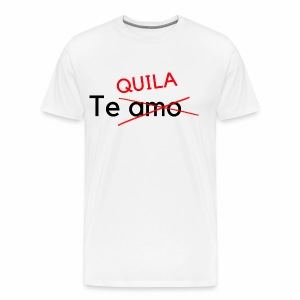 no te amo and tequila - Männer Premium T-Shirt