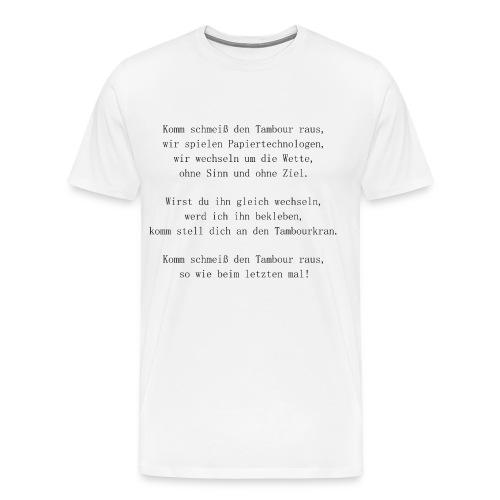 Song Papiertechnologe Papiermacher black - Männer Premium T-Shirt