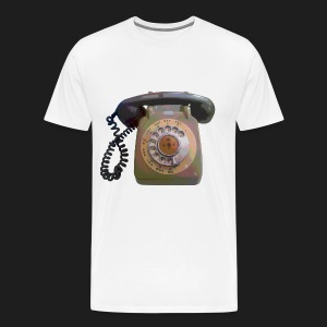 Grey Telephone - Men's Premium T-Shirt