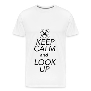 Keep Calm and Look Up - Mannen Premium T-shirt