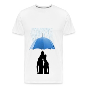 Love under the umbrella - Mannen Premium T-shirt