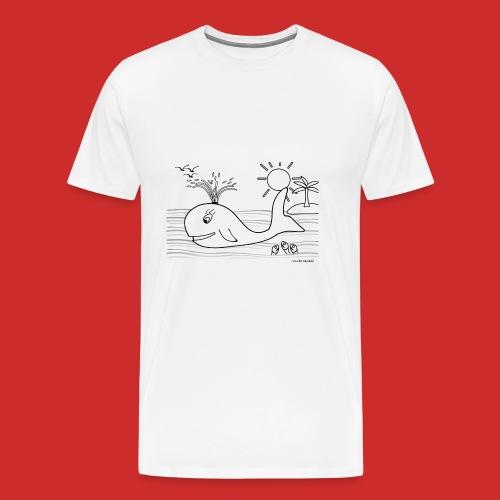 disegno_balenotta_da_colorare-jpg - Maglietta Premium da uomo