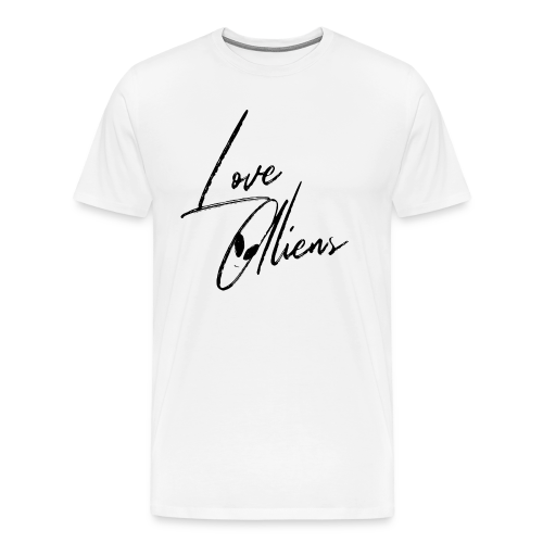 Love aliens - Men's Premium T-Shirt