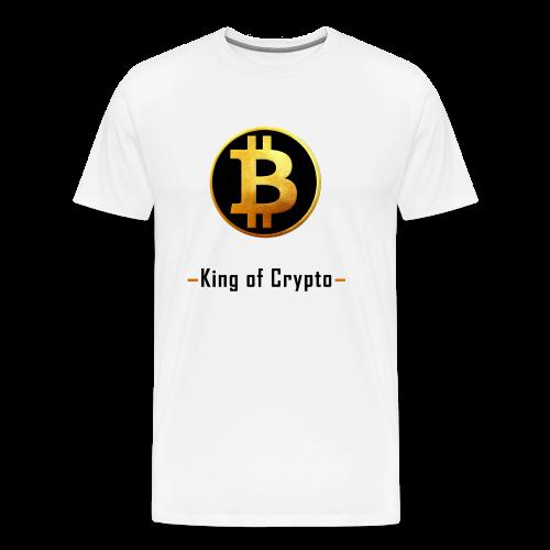 Bitcoin - King of Crypto T-Shirt by Blockawear - Männer Premium T-Shirt