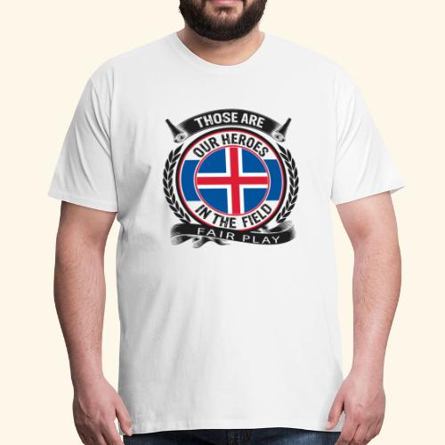 Island 🇮🇸 - Männer Premium T-Shirt