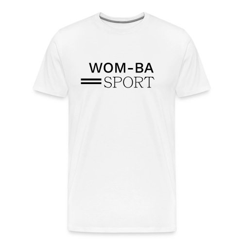 WOM-BA SPORT black - Koszulka męska Premium