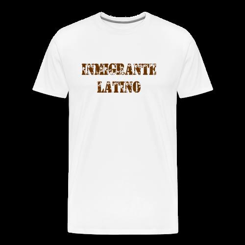 Inmigrante Latino Maron - Männer Premium T-Shirt