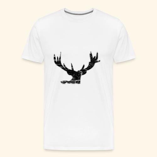 Hirschkopf Waldtier Herbst Hirsch Tier - Männer Premium T-Shirt
