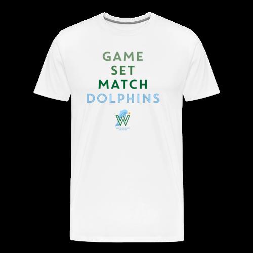 Game Set Match Dolphins - Männer Premium T-Shirt
