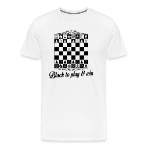 Black to play and win - T-shirt Premium Homme