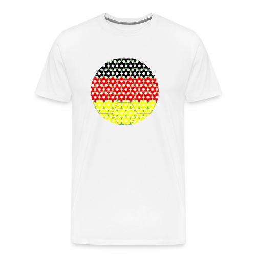 Fussball Flagge Deutschland - Männer Premium T-Shirt