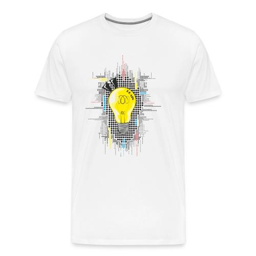 Pop Art Brain - sei der Schlauste und Cleverste - Männer Premium T-Shirt