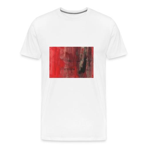 abstrait rouge et noir - T-shirt Premium Homme