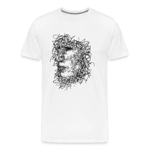 Visage Gribouillage - T-shirt Premium Homme