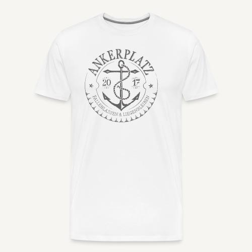 Ankerplatz grau - Männer Premium T-Shirt