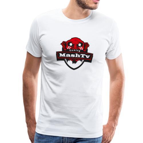 Transparentes Mash Merch Red/Black Logo - Männer Premium T-Shirt