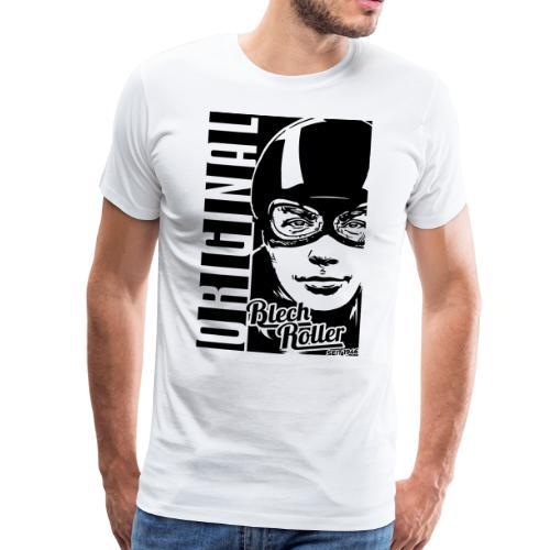 Blechrollerfahrer Oldschool - Männer Premium T-Shirt