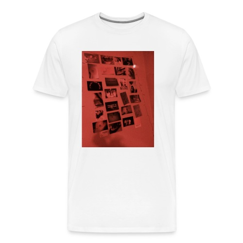 Red Grunge Night T-shirt - Men's Premium T-Shirt