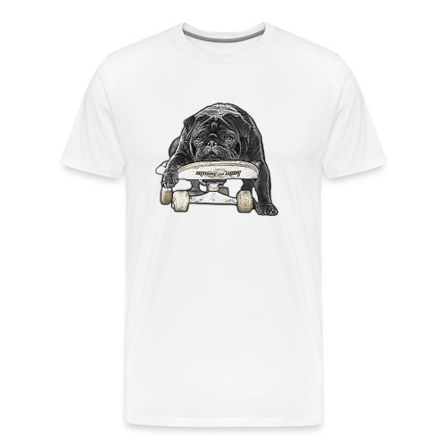 skateboard pug - Männer Premium T-Shirt