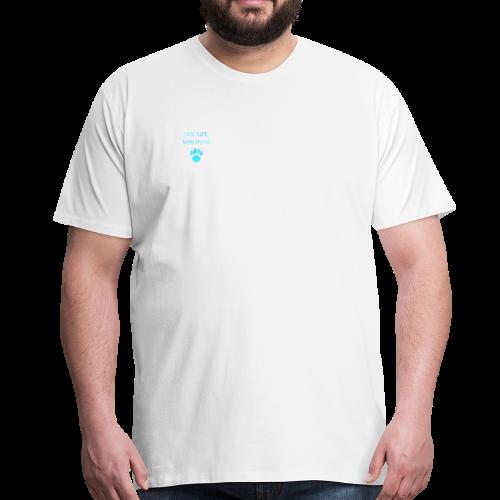Blue Paw Print - Men's Premium T-Shirt