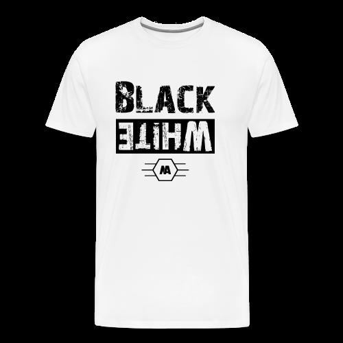 blackNwhite - Männer Premium T-Shirt