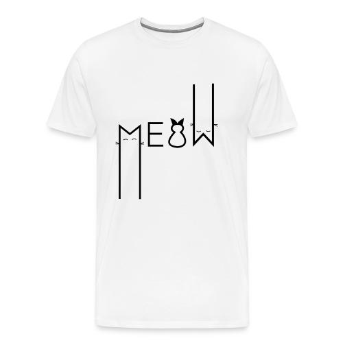 MEOW Miau Katze Süß Liebe - Männer Premium T-Shirt