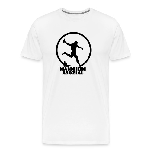 Mannheim Asozial White T - Männer Premium T-Shirt