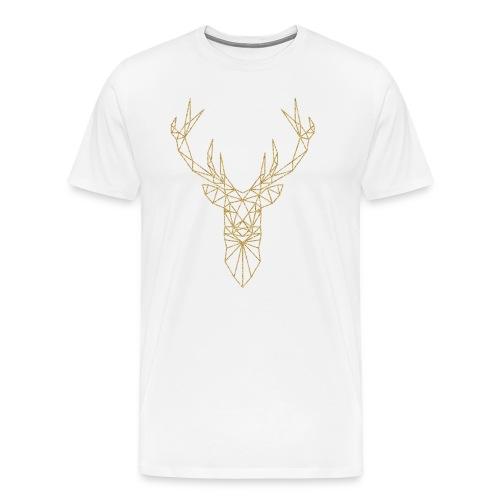 Hirsch Triangel gold - Männer Premium T-Shirt