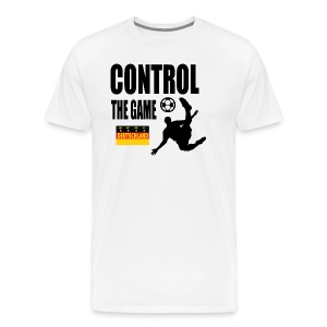 Control the game Deutschland zwart - Mannen Premium T-shirt