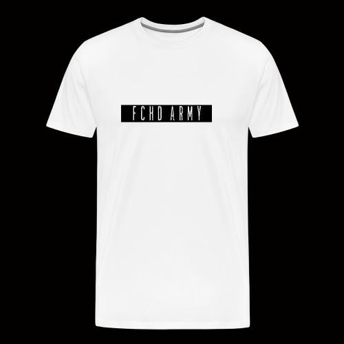 FCHD ARMY LOGO (SCHWARZ) - Männer Premium T-Shirt