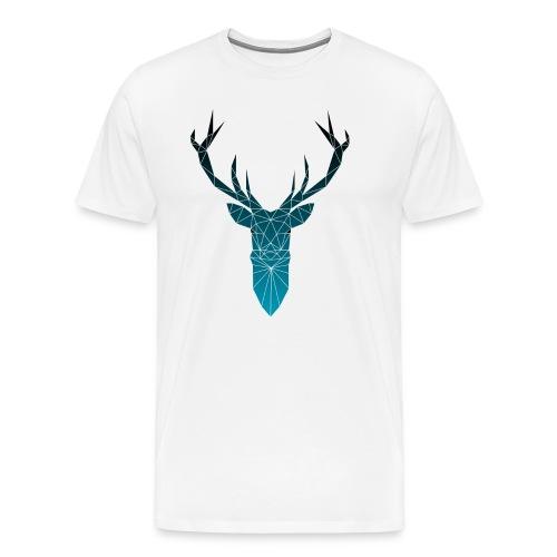 Hirsch blau im Triangel-Design - Männer Premium T-Shirt