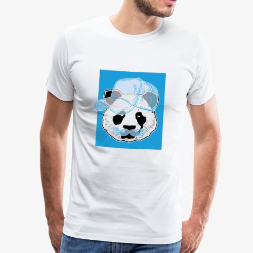 Panda - Cap - Mustache - Männer Premium T-Shirt