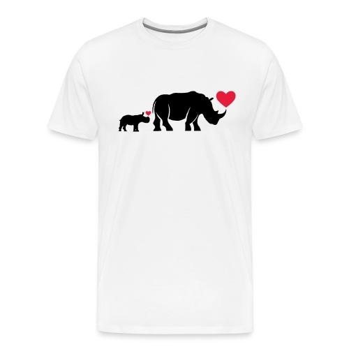 Russell Rhino mum and son - Men's Premium T-Shirt